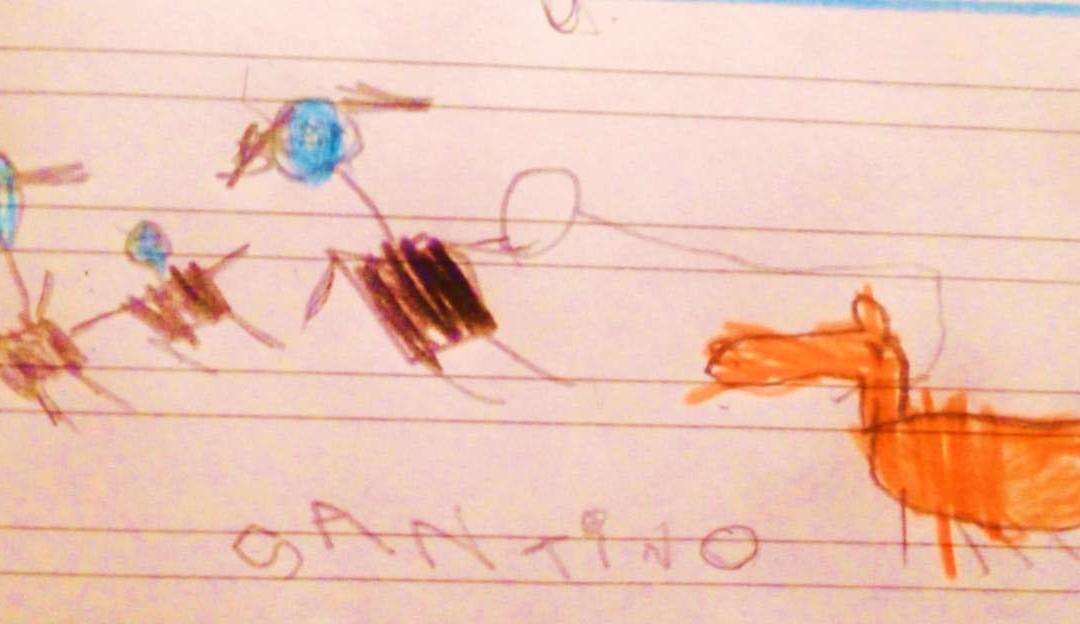 Grazie Santino! Dall'Argentina un disegno per CIbimBO. Mandateci il vostro!